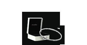 纯银手镯 Silver bangle bracelet